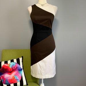 WHBM Color Block Sleeveless Sheath Dress